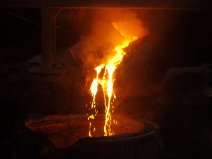 OFZ tapping and ladle casting