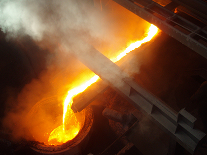 OFZ tapping channel & ladle casting